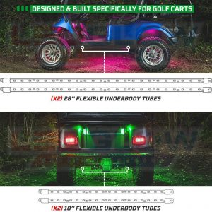 Million Color LED Golf Cart